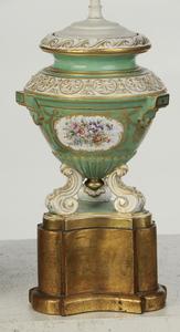 Pair English Porcelain Vase Form Lamps