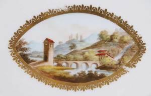Four British Hand Painted Porcelain Plates