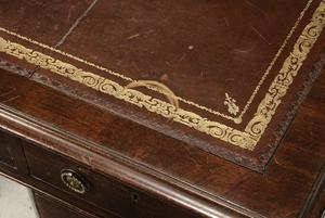 Regency Style Mahogany Pedestal Desk