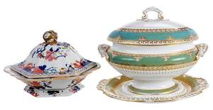 Masons Ironstone Compote and Spode Tureen