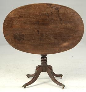 Regency Mahogany Oval Breakfast Table