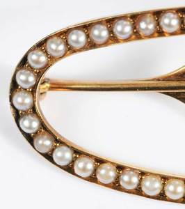 14kt. Brooch and Hair Clip