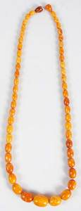 Butterscotch Amber Bead Necklace