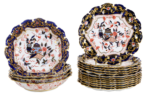 16 Pieces of British Imari Style Porcelain