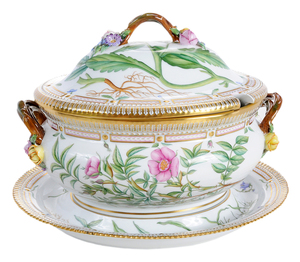 Flora Danica Tureen With Underplate