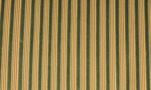 Pair Striped Velvet Tufted Upholstered Settees