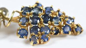 18kt. Sapphire Earclips