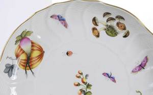 Seven Porcelain Pieces including Herend, Limoges