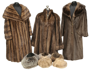 Nine Woman's Fur Articles/Three Mink Coats