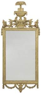 Italian Neoclassical Carved and Gilt Wood Mirror