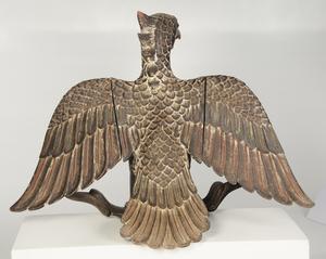 Polychromed Carved Wood Garuda Figure