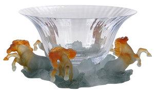 Daum Crystal Pate de Verre Marly Bowl