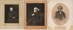 Three Signed Etchings, Calhoun, Hugo and Thiers