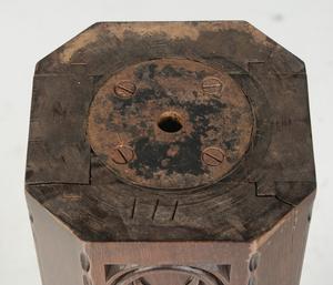 Gothic Revival Carved Walnut Pedestal