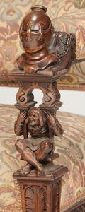 Renaissance Revival Figural Arm Chair