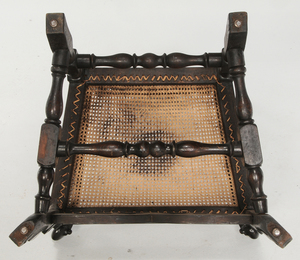 Pair of Flemish Baroque Style Caned Arm Chairs