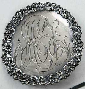 Sterling Decanter labels and Belt Buckle