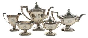 Five Piece Gorham Sterling Tea Service