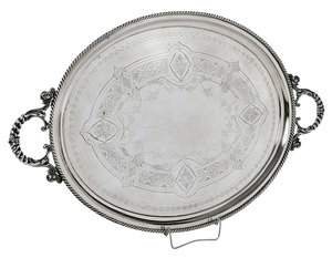 Large English Silver Plated Tray