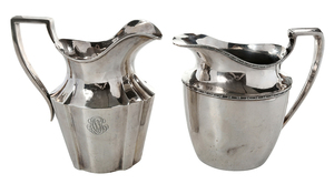 Sterling and Silver-Plate Water Pitcher