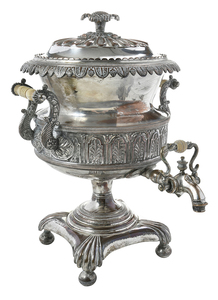 Silver-Plate Hot Water Urn