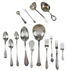 60 Pieces Assorted Sterling Flatware