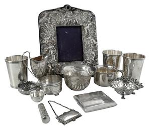 12 Pieces English/American Silver