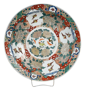 Large Arita Charger With Sparrows