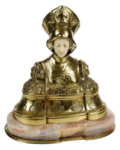 Brass Female Figural Box