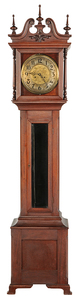 American Brass Dial and Mahogany Tall Case Clock
