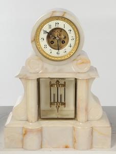 French Onyx Clock Garniture