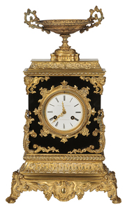 French Ormolu and Marble Mantel Clock