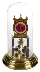 Brass Skeleton Clock with Dome