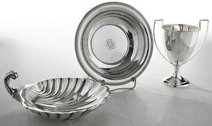 Three Pieces Sterling Hollowware