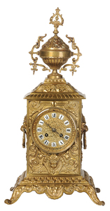 French Style Brass Mantel Clock