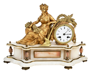 French Figural Mantel Clock
