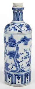 Asian Blue and White Porcelain Bottle