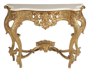 Italian Louis XV-Style Gilt Wood Console Table