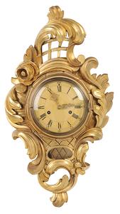 Rococo Style Cartel Clock