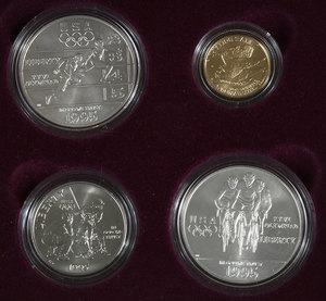 Nine U.S. Commemorative Coins/Gold & Silver
