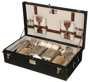 Cased Picnic Set for Lewis & Conger
