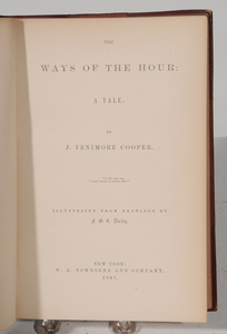 Two Leather-Bound Sets of Longfellow and Cooper
