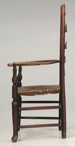 Lancashire Rush Seat Open Arm Chair