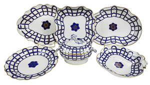 26 Pieces Derby Porcelain Assembled Set