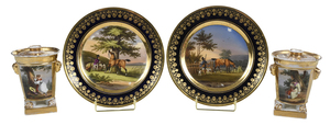 Four Scenic View Porcelain Pieces
