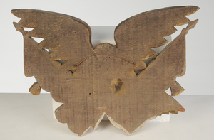 Gilt and Painted Carved American Eagle Plaque