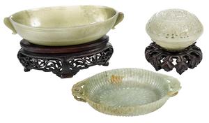 Three Jade and Jadeite Vessels