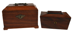 Two Georgian Mahogany Tea Caddies