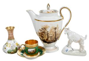 Four Porcelain Table Items