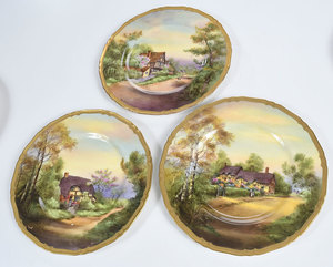 Eight Royal Worcester Service Plates